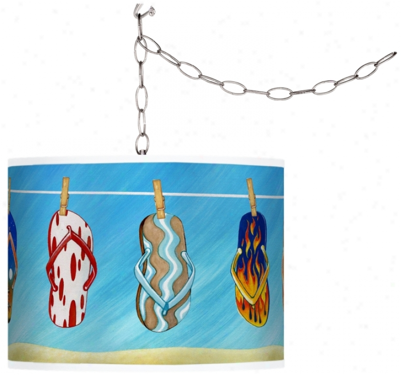 Summer Flip-flops Swag Style Plug-in Chandelier (f9542-j0738)