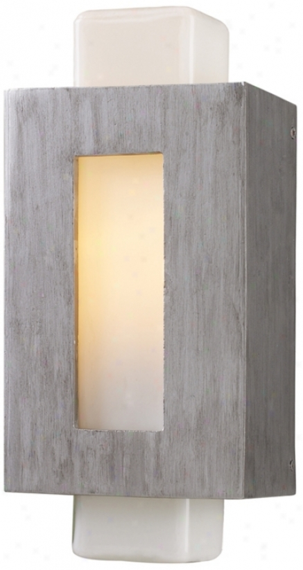 "Sundborn Collection Silver 14"" High Outdoor Wall Light (k0860)"