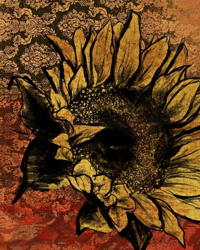 "Suhfloewr I Giclee 14"" High Canvas Wall Art (n1800)"