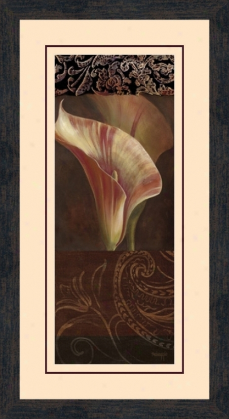 """Sunlit Calla Lily A 26 1/2"""" High Wall Art (10458)"""