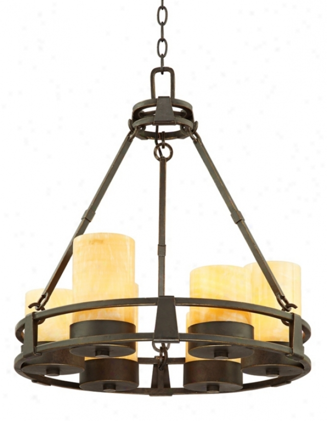 Sunset Onyx Stone 6-light Faux Candle Chandelier (k5863)