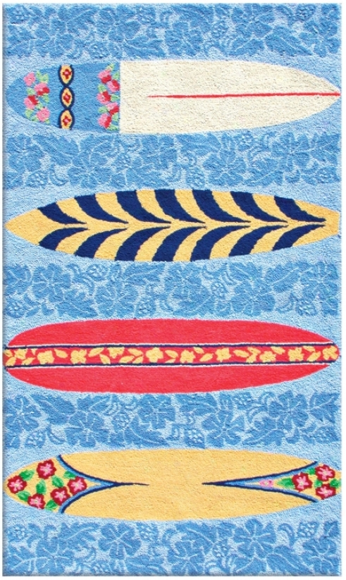 Surfer Boards Area Rug (f4583)