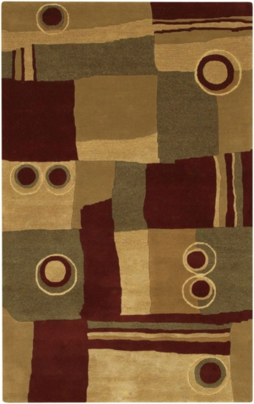 Surya Rugs Art-87 Burgundy Hanr-made Area Rug (51229)