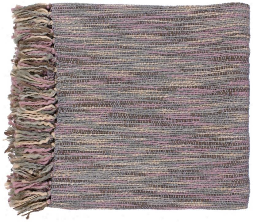 Surya Teegan Gray And Mauvs Throw Blanket (v0962)