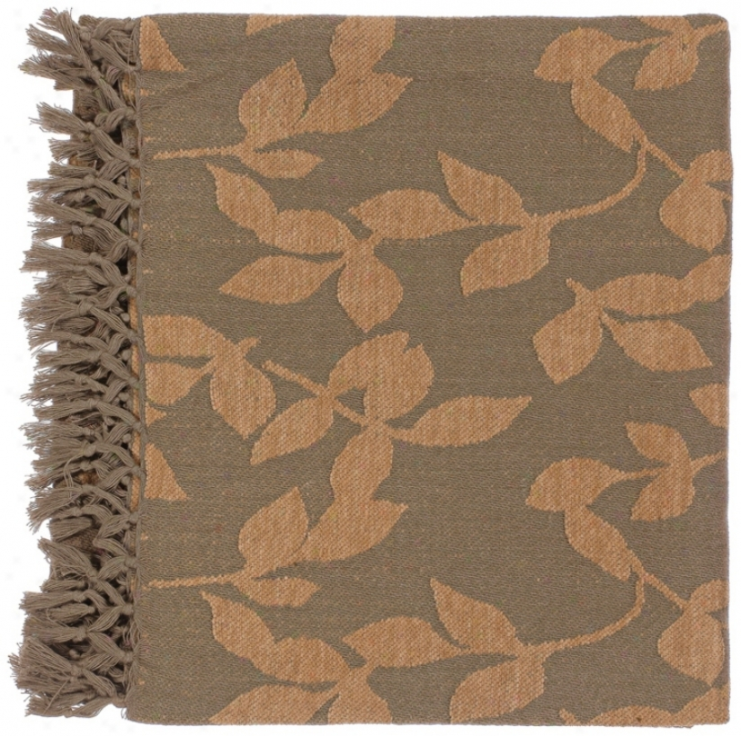 Surya Timora Brown And Camel Throw Blanket (v0964)