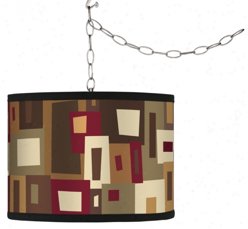 Swag Style Earth Palette Shade Plug-in Chandelier (f9542-g4312)