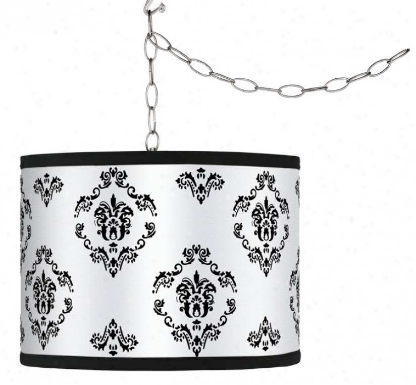 Swag Style French Crest Shade Plug-in Chandelier (f9542-g8589)