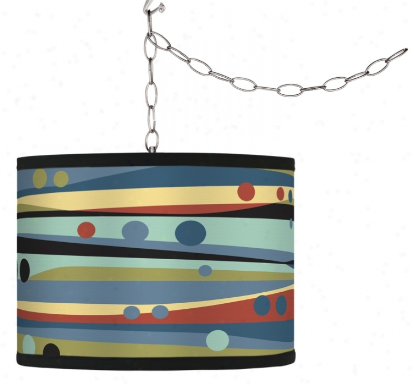 Swag Style Retro Dots & Waves Shelter Plug-in Chandelier (f9542-h0916)
