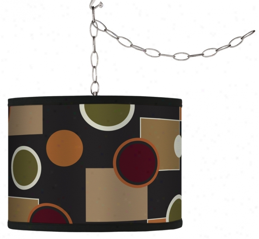 Swag Style Retro Medley Shade Plug-in Chandelier (f9542-g4312)