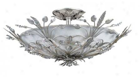 "Swarovski Paris Flea Market 20"" Wide Silver Ceiling Light (g6361)"