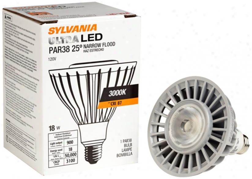 Sylvania Par38 Narrow Flood 18 Watt Dimmable Led Light Bulb (u0798)
