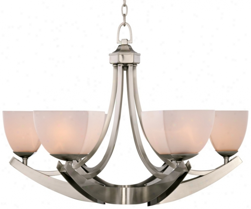 "Talavera Brushed Steel 32"" Wide Chandelier (r0218)"