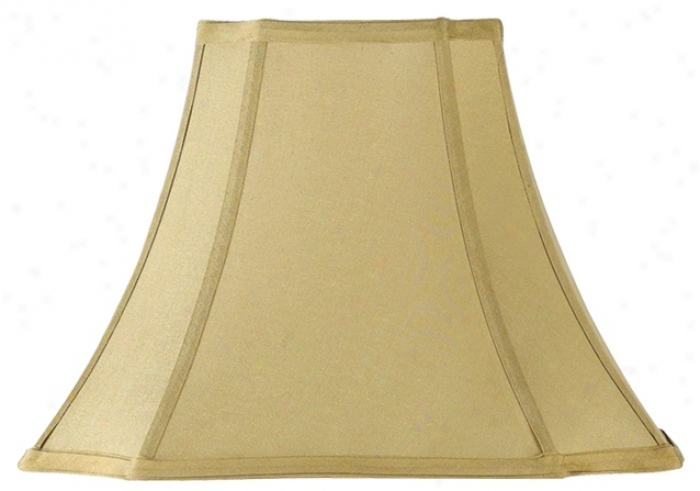 Tan Cut Corner Lamp Shade 7x15x11 (spider) (25642)