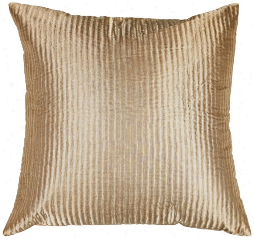 Tan Polyester  Pillow (h6768)