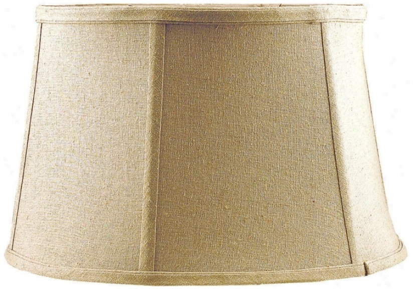 Tan Softback Lamp Shade 11x13.5x8.5 (spider) (h3806)