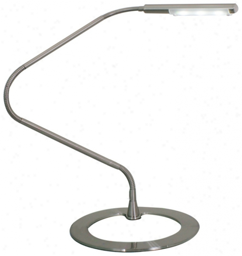 Tasso Gooseneck Led Round Base Desk Lamp (m4403)