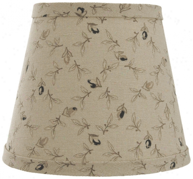 Taupe With Black Rosebuds Lamp Shade 6x12x8 (spider) (w0148)