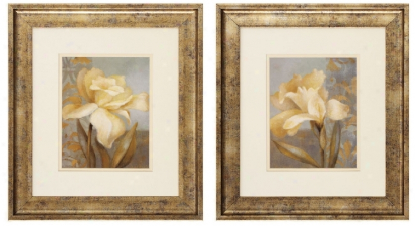 "Teal Radiance I And Ii 19"" Wide Framed Wall Art (p2273)"