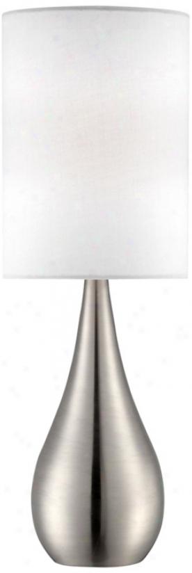 "Teardro 21"" High Brushed Steel Table Lamp (v1851)"