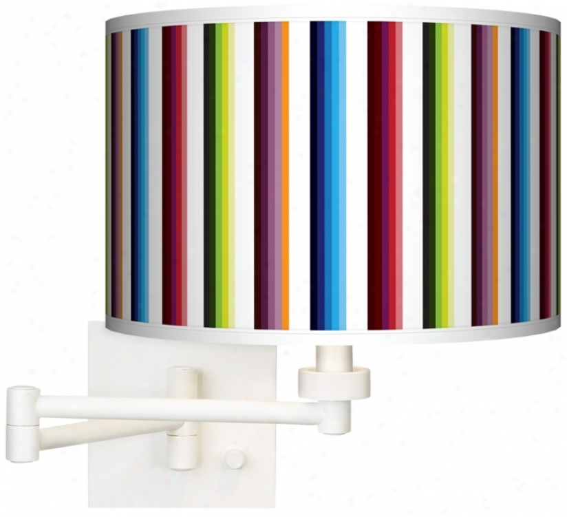 Technocolors White Plug-in Swing Branch Wall Light (h6558-p7729)