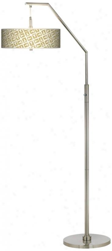 Tee Tumble Giclee Shade Arc Floor Lamp (h5361-p6051)