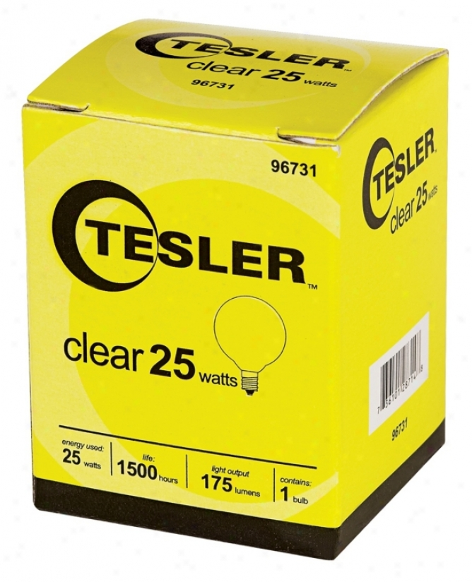 Tesler 25 Watt G12 1/2 Cl3ar Candelabra Light Bulb (96731)