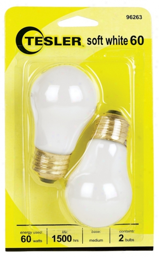 Tesler 60 Watt 2-pack Soft Pure Ceiling Fan Light Bulbs (96263)