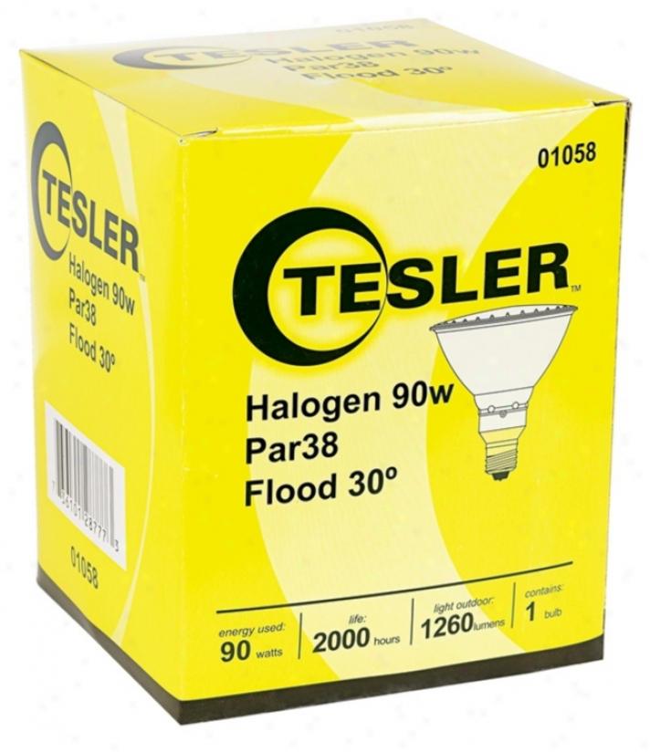 Tesler Par38 Halogen 90 Watt Flood Light Bulb (01058)