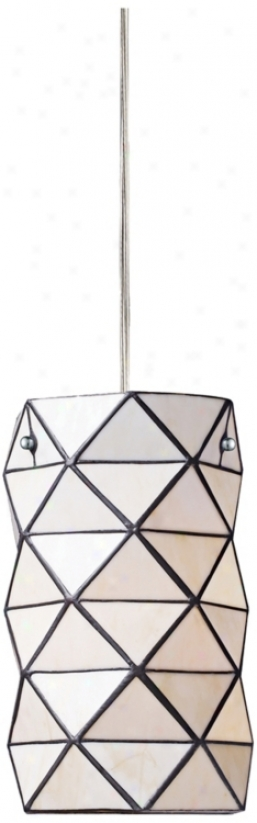 "Tetra Collection Tiffany Style 7"" Spacious Pendant Chandelier (m6149)"