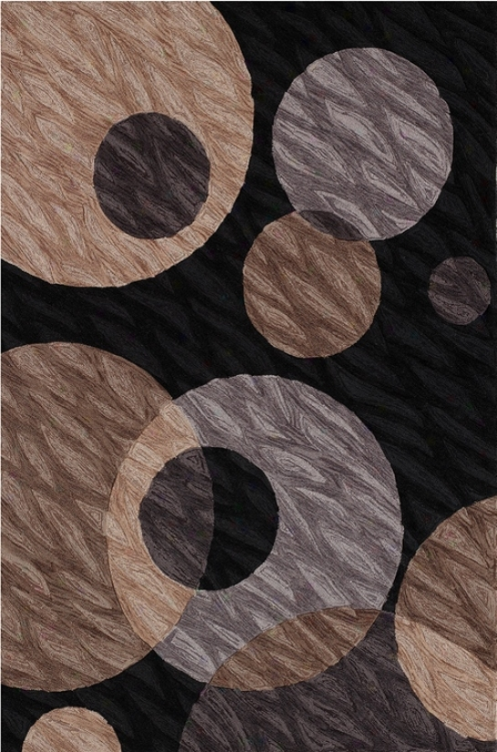 Textured Black Multi Area Rug (j6734)