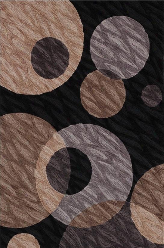 Textured Black Multi Area Rug (j6734)