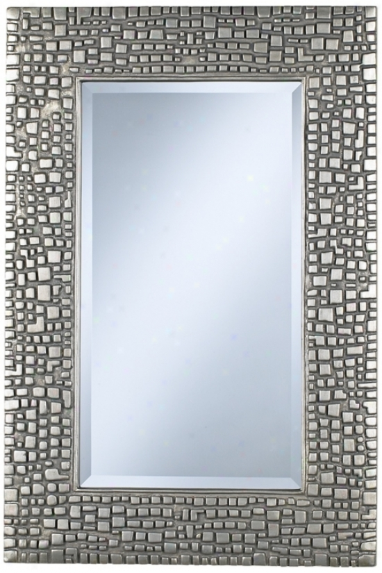 "Textured Relief Silver Finish 36"" High Wall Pattern (t9616)"