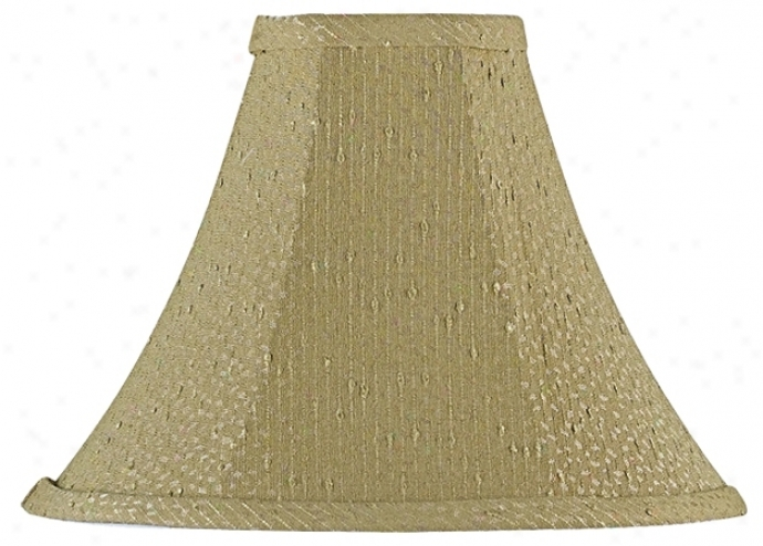 Textured Taupe Bell Lamp Shade 4x11x8.5 (spider) (26851)