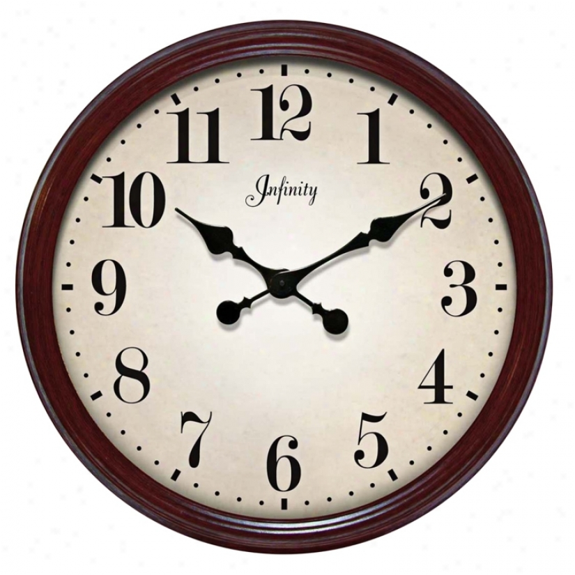 "The Allure 24 1/2"" Wide Wall Clock (j4923)"