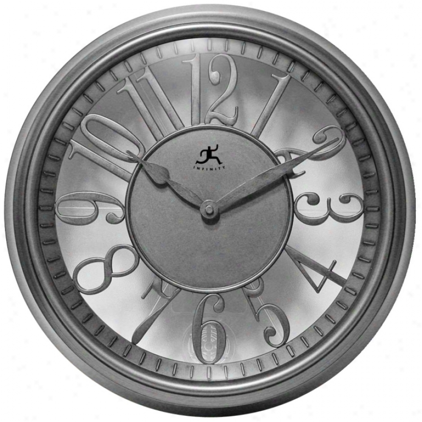 """The Engineer 15"""" Wide Round Wall Clock (r6842)"""