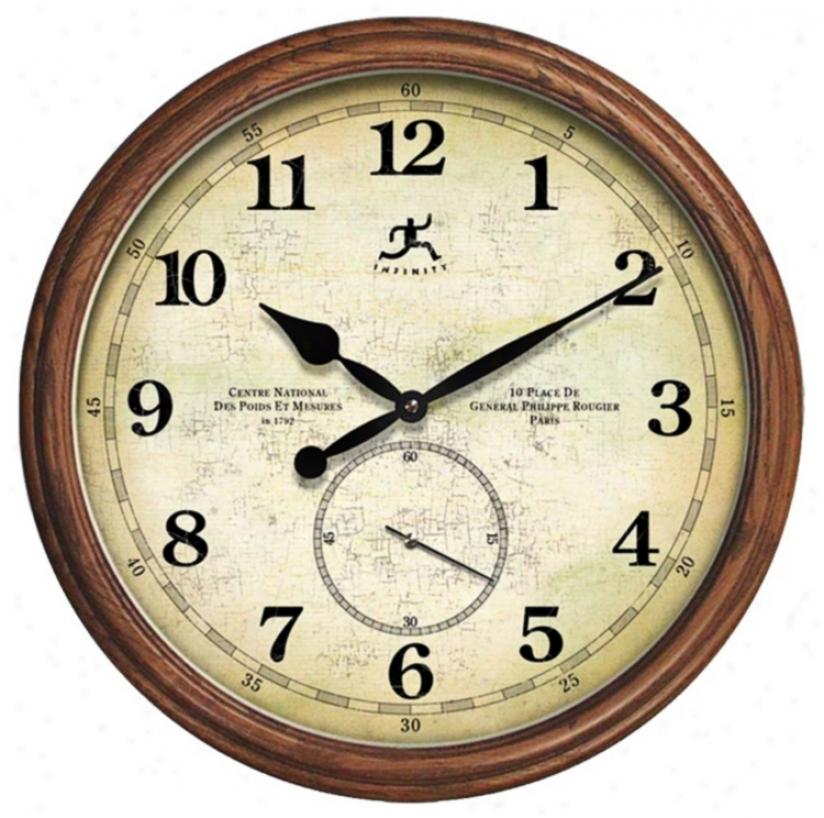 "The Explorer 19 1/4"" Spacious Round Wall Clock (r6888)"