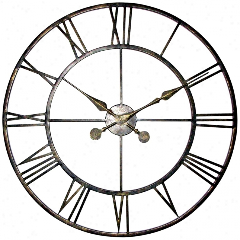 "The Iron Citadel 29 3/4"" Wide Wall Clock (j4920)"
