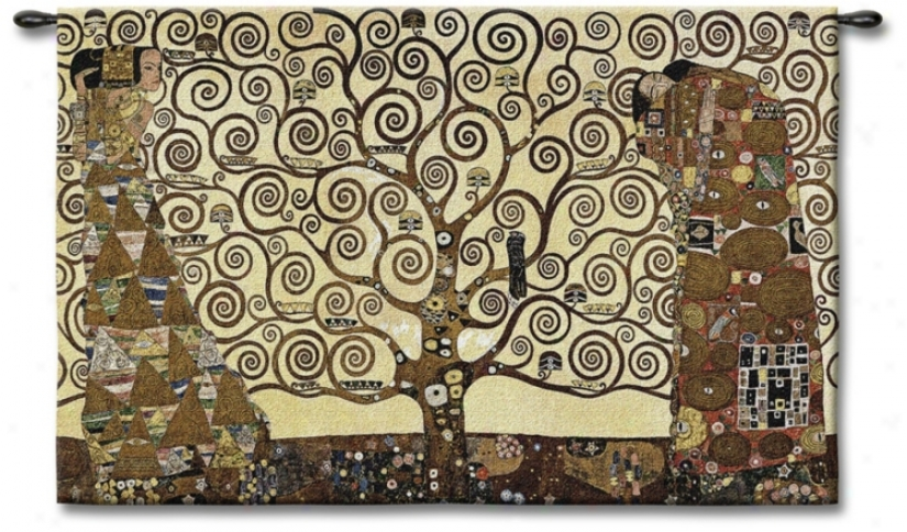 "The Tree Of Life 53"" Wide Wall Tapestry (j8894)"