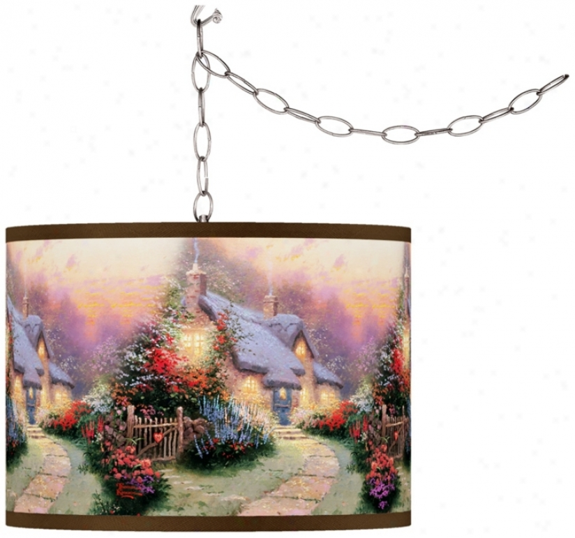Thomas Kinkade Glory Of Eve Swag Chandelier (f9542-w7082)