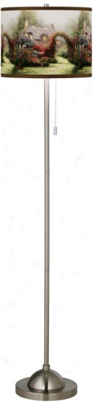 Thomas Kinkade Glory Of Morning Giclee Shade Floor Lamp (99185-w6989)