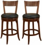 "American Heritage Autumn Set Of 2 Black 30"" Remote  Bar Stools (u4599)"