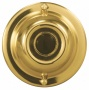 "Basic Srries Gold With Black 2 1/4"" Round Doorgell Button (i6287)"