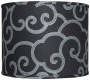 Black With Gray-haired Scrolk Lamp Shade 16x16x13 (spider) (w0272)