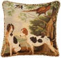 "Dogs Animal Print Velet Welt Cord 19"" Square Throw Pillow (r6241)"