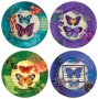 Hindostone Set Of 4 Butterfly Stone Coasterss (r1506)