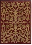 "Kath Ireland Viia Verde Ancient Red 3'6"" X 5' Area Rug (p3559)"