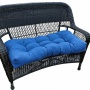 "Marine Blue 42"" Wide Oudopr Settee Cushion (w6256)"