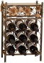Metal Flowers And Glas 9-bottle Wine Rack (u4023)