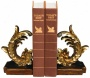 Set Of 2 Cresting Leaf Bookends (u6835)
