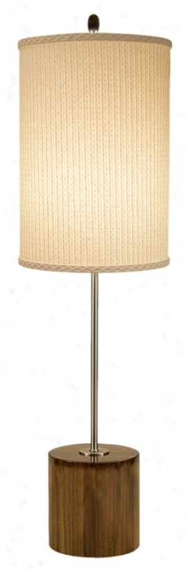 Thumprints Acacia With Ivory Shade Tablee Lamp (m6939)